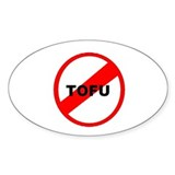 NO TOFU Oval Decal