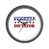 TERRELL for dictator Wall Clock
