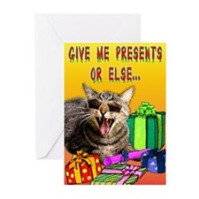 WG Give me presents Greeting Cards (Pk of 10)