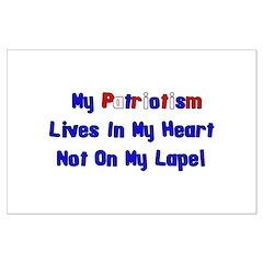 Flag Pin Patriotism Posters
