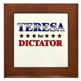 TERESA for dictator Framed Tile