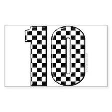 race car number 10 Rectangle Decal