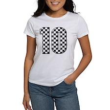 race car number 10 Tee