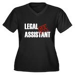 Off Duty Legal Assistant Women's Plus Size V-Neck