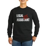 Off Duty Legal Assistant Long Sleeve Dark T-Shirt