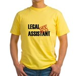 Off Duty Legal Assistant Yellow T-Shirt