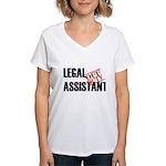 Off Duty Legal Assistant Women's V-Neck T-Shirt