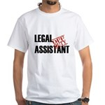Off Duty Legal Assistant White T-Shirt