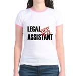 Off Duty Legal Assistant Jr. Ringer T-Shirt
