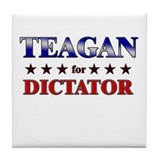 TEAGAN for dictator Tile Coaster