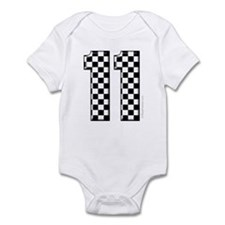 race car number 11 Infant Bodysuit
