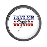 TAYLER for dictator Wall Clock