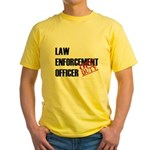 Off Duty Law Enf. Off. Yellow T-Shirt