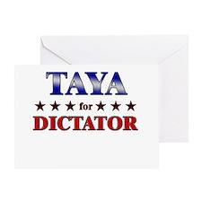 TAYA for dictator Greeting Card