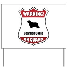 Collie On Guard Yard Sign