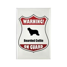 Collie On Guard Rectangle Magnet