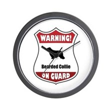 Collie On Guard Wall Clock
