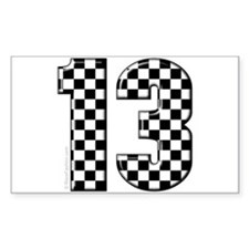motorsport #13 Rectangle Decal