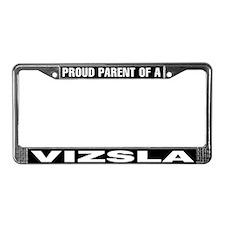 Proud Parent of a Vizsla License Plate Frame