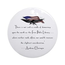 Andrew Carnegie-Libraries<br> Keepsake (Round)