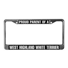 West Highland White Terrier License Plate Frame