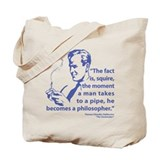Pipe Smoker V Tote Bag