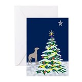 Greyhound christmas cards Greeting Cards (20 Pack)
