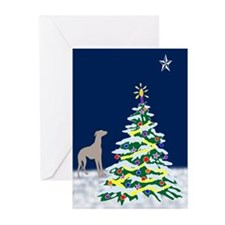 Greyhound North Star Greeting Cards (Pk of 20)