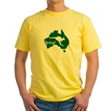 Aussie Roo Green T-Shirt