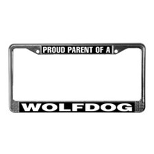 Proud Parent of a Wolfdog License Plate Frame