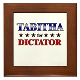 TABITHA for dictator Framed Tile