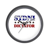 SYDNI for dictator Wall Clock