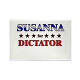 SUSANNA for dictator Rectangle Magnet (10 pack)