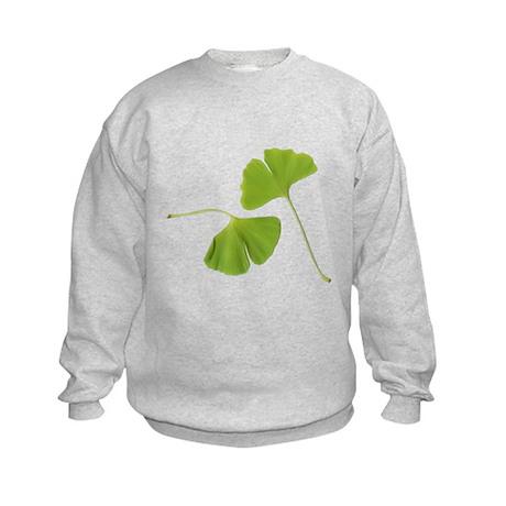 Ginkgo Biloba Leaves Kids Sweatshirt