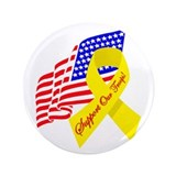 "Support Our Troops US Flag 3.5"" Button"