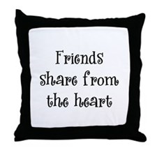 Friends Share Throw Pillow