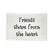 Friends Share Rectangle Magnet