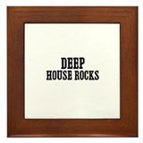 Deep House Rocks Framed Tile