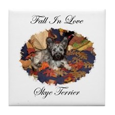 Skye Terrier - Fall In Love Tile Coaster