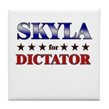 SKYLA for dictator Tile Coaster