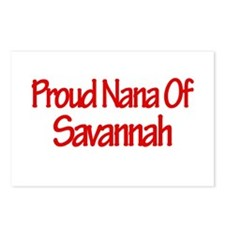 Proud Nana of Savannah Postcards (Package of 8)