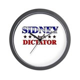 SIDNEY for dictator Wall Clock