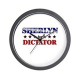 SHERLYN for dictator Wall Clock