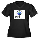 World's Greatest PRIEST Women's Plus Size V-Neck D