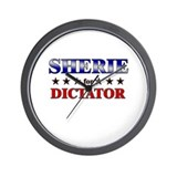 SHERIE for dictator Wall Clock