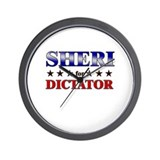 SHERI for dictator Wall Clock