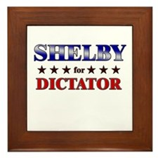 SHELBY for dictator Framed Tile