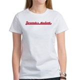 Forensics student (sporty red Tee