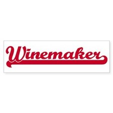 Winemaker (sporty red) Bumper Stickers