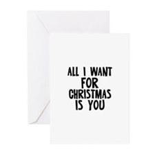 All I want for Christmas is Y Greeting Cards (Pk o